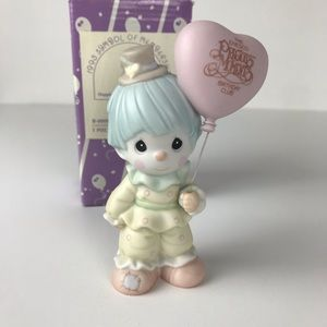Precious Moments clown figurine Birthday club